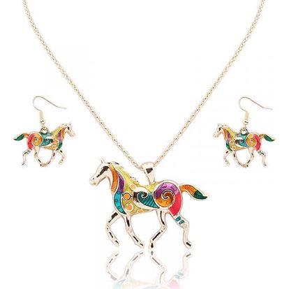 Náušnice s náhrdelníkem v podobě koní