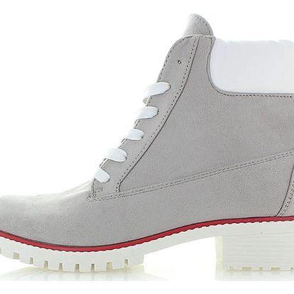 Šedé kotníkové boty Works