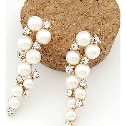 Dámské náušnice s umělými perlami - Hrozínky