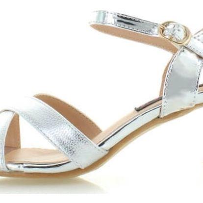 Stříbrné sandály Pabla