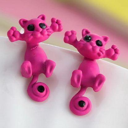 Roztomilé 3D náušnice v podobě kočičky - 12 variant