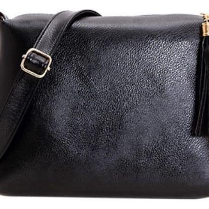 Crossbody kabelka s třásní střední velikosti