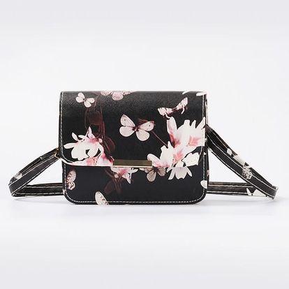 Malá kabelka s romantickým motivem - černá nebo bílá