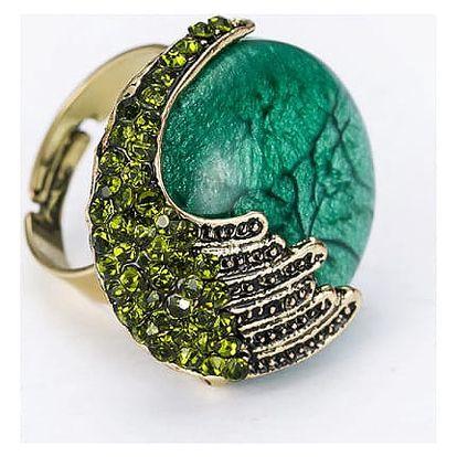 Dámský prsten s výrazným kamenem v několika barvách - 6 variant