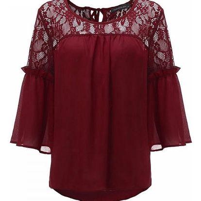 Ležérní tričko s krajkou - 4 barvy