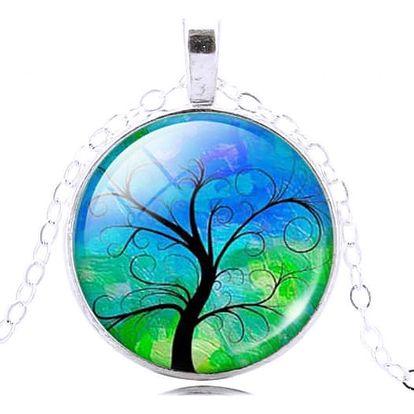 Vintage náhrdelník s přívěskem s magickým stromem