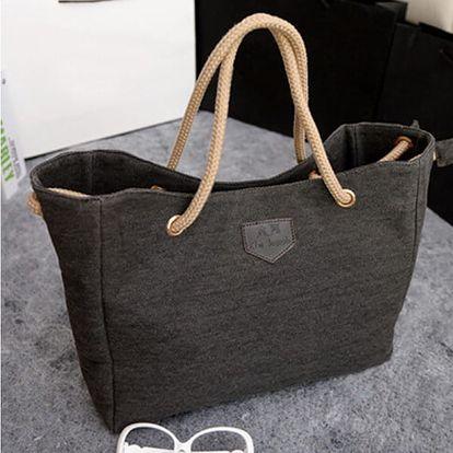 Ležérní plátěná kabelka přes rameno - 4 barvy