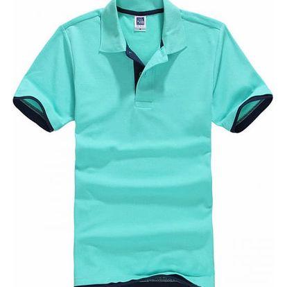 Pánské dvoubarevné tričko s límečkem - 15 variant
