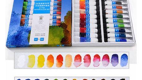 Profesionální sada akvarelových barev - 24 ks