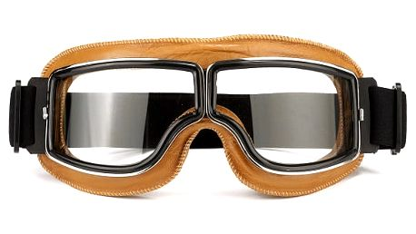 Motocyklové brýle v retro provedení