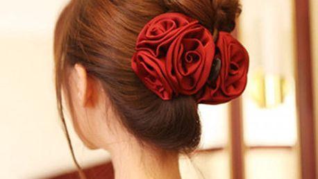 Elegantní skřipec do vlasů s poupaty růží