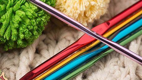 Bohatá vícebarevná sada jehlic na háčkování - 22 ks