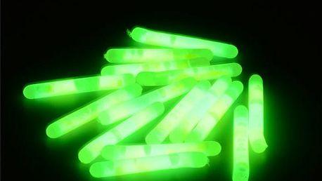 Svítící tyčinka nejen pro rybáře 36 x 4,5 mm - 15 kusů