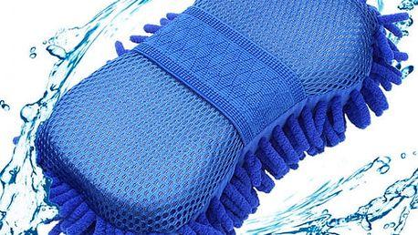 Houba na mytí auta v modré barvě