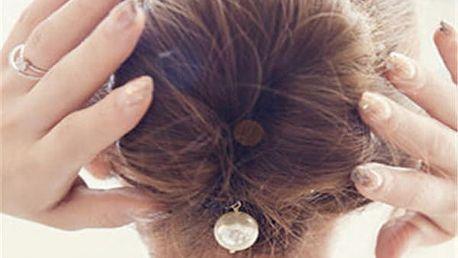 Vlásenka pro dokonalý účes s bílou perličkou
