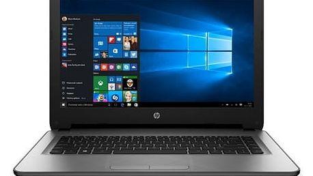 Notebook HP 14-ac104nc (W0X86EA#BCM) stříbrný
