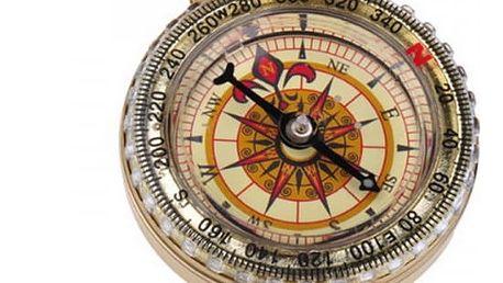 Kompas ve zlaté barvě