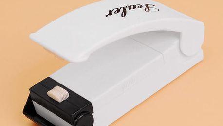 Uzavírací přístroj plastových sáčků - bílá barva