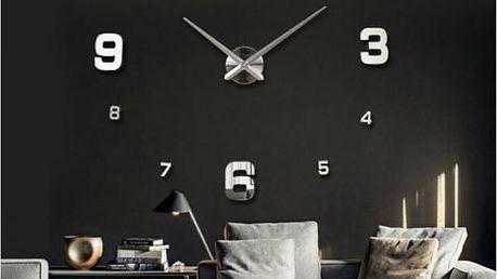Nástěnné hodiny s velkými čísly - 10 barev
