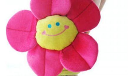 Spona na závěs v podobě veselé květiny - 8 barev