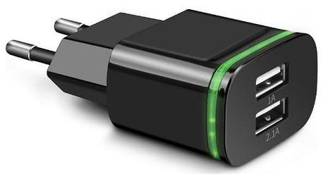 Duální USB nabíječka do zásuvky