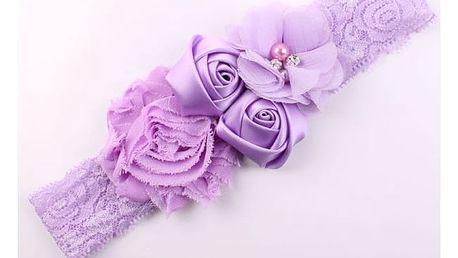 Čelenka pro miminka s růžemi
