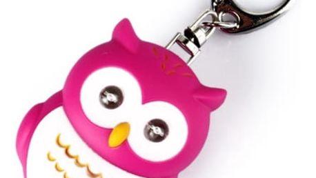Přívěšek na klíče s LED světlem - sova