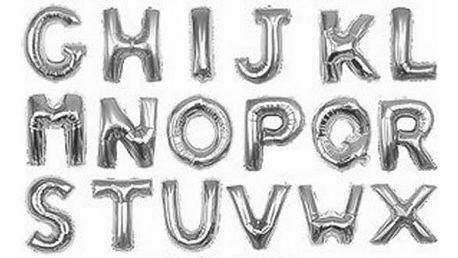 Nafukovací balónky ve stříbrné barvě a velikosti 16 palců (písmena A–Z)