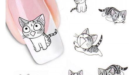Samolepky na nehty - kočičky