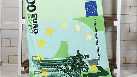 Osuška 100 euro, vel. 70 x 140 cm - dodání do 2 dnů