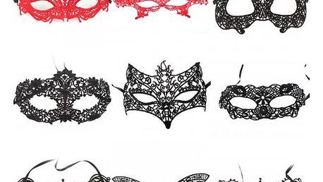 Krajková maska v různých motivech