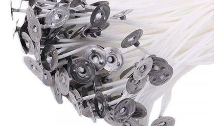 Knoty s plíškem na výrobu svíček - 100 ks