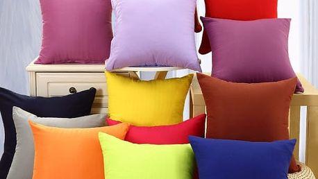 Jednobarevný povlak na polštář 40 x 40 cm - 9 barev