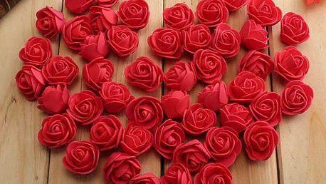 Umělé dekorační růže - 50 ks / různé barvy