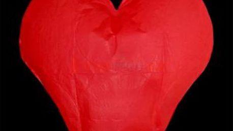 Napište zamilovaný vzkaz na lampion ve tvaru srdce