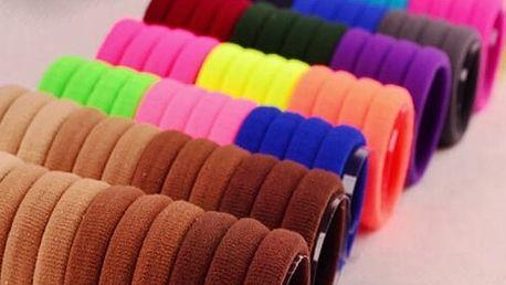 Elastické gumičky do vlasů v různých barvách - 30 kusů