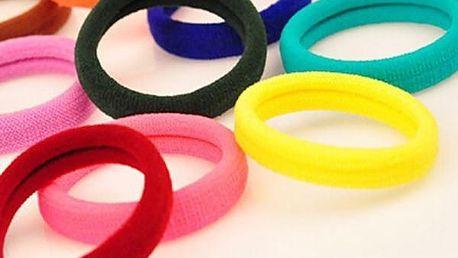 Elastické gumičky do vlasů - 25 kusů