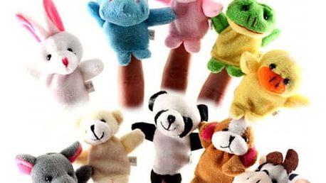 10 ks plyšových maňásků v podobě zvířátek
