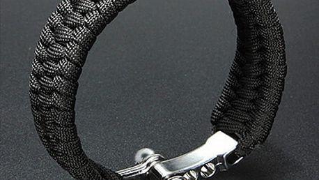 Outdoorový náramek pro muže - černá barva