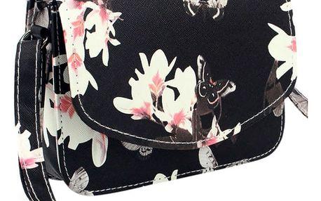 Dámska taška s květinovým motivem - 2 barvy
