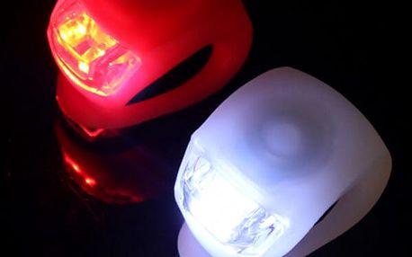 Silikonové přední LED osvětlení na kolo