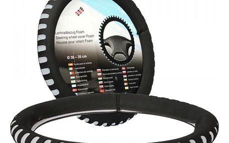 Potah volantu z příjemného materiálu - 38 cm