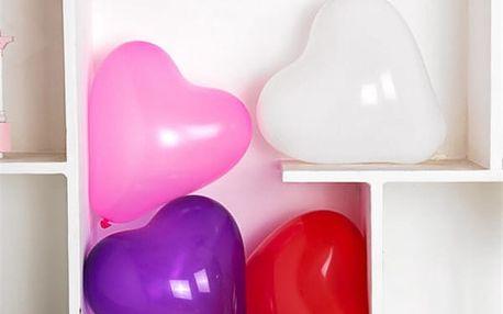 Balení balónků ve tvaru srdce