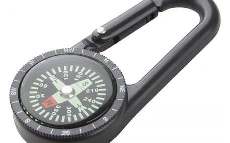 Plastová karabina s kompasem - dodání do 2 dnů