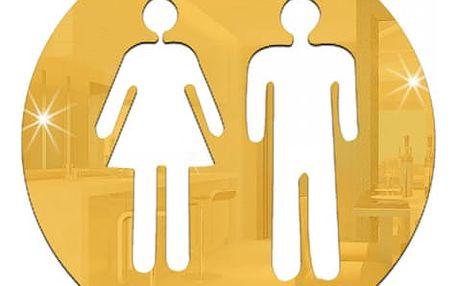 Samolepicí ikona na dveře od koupelny nebo WC - 6 variant
