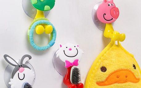 Držák na zubní kartáček do koupelny s přísavkou - veselý zvířecí motiv