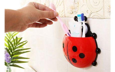 Nástěnný držák na zubní kartáčky pro děti