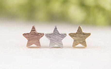 Náušnice ve tvaru malé hvězdičky - více barev
