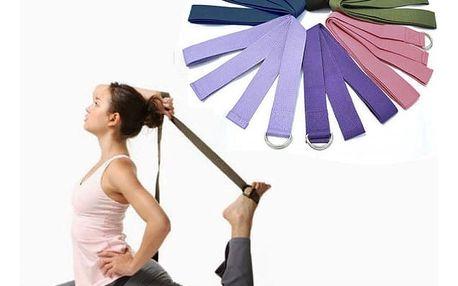Protahovací popruh na fitness i jógu - různé barvy