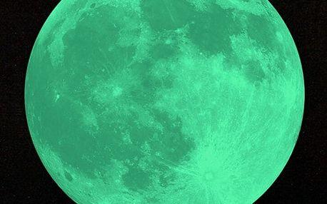 Samolepka na zeď svítící měsíc - 20 cm